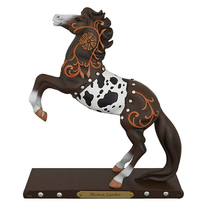 trail of painted ponies western leather horse figurine