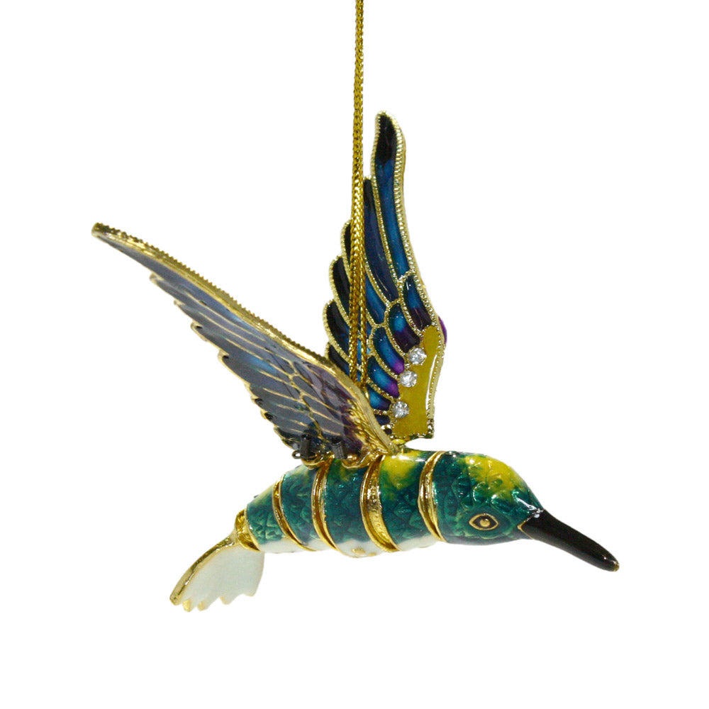 bejeweled articulated hummingbird ornament