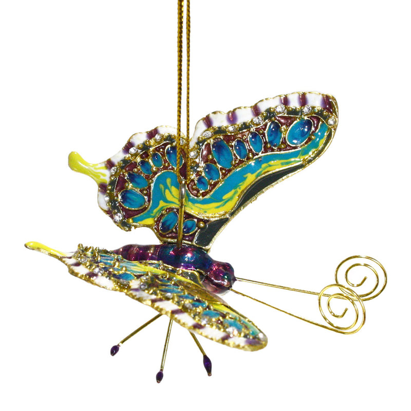 crystal accented articulated butterfly ornament