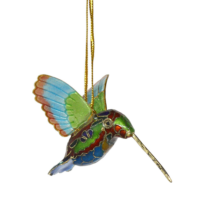 cloisonne hummingbird hanging ornament