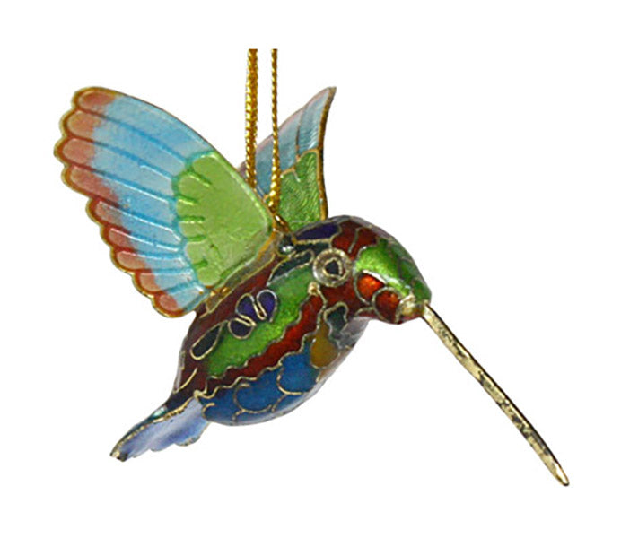 cloisonne hummingbird ornament