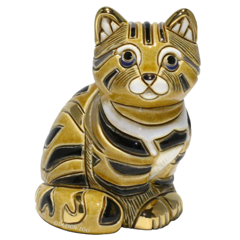 de rosa 772 ceramic tabby cat figurine