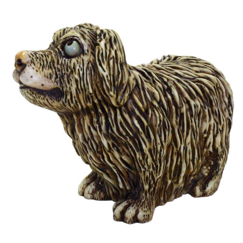 harmony kingdom scruffy dog figurine alt view