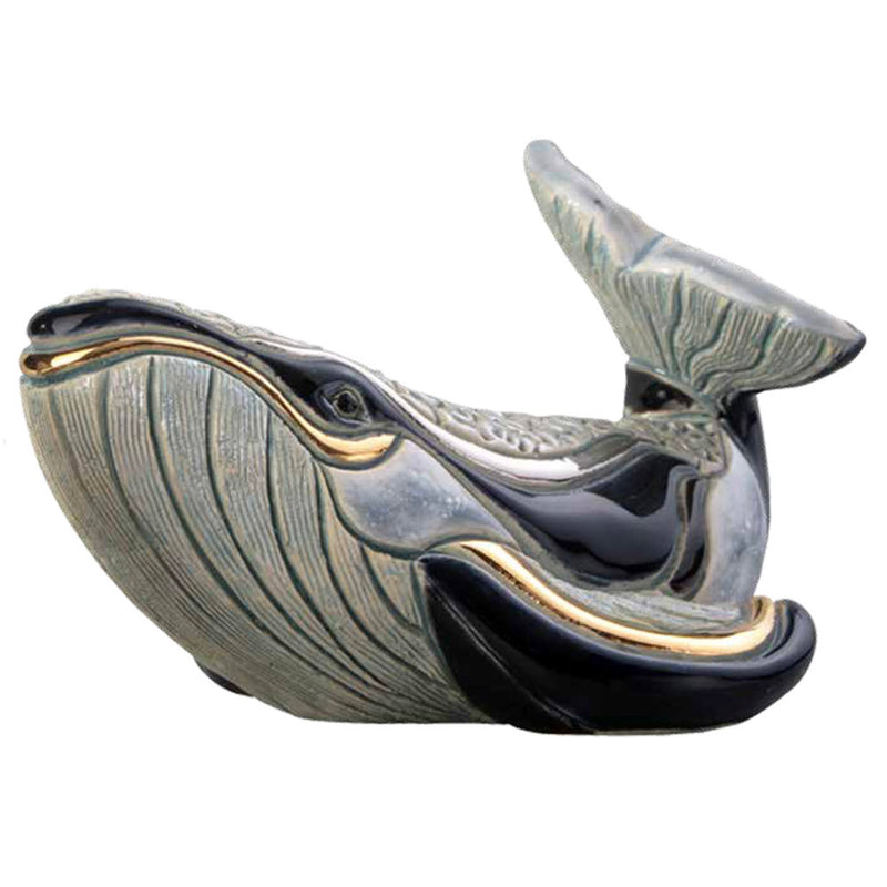 ceramic de rosa F147 whale sculpture