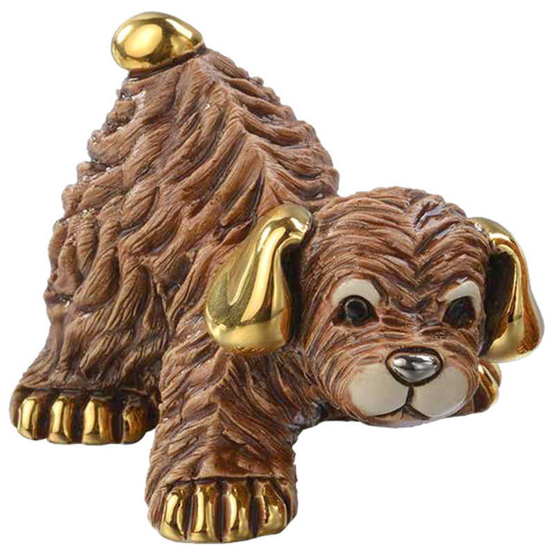 de rosa F389 brown baby puppy dog figurine