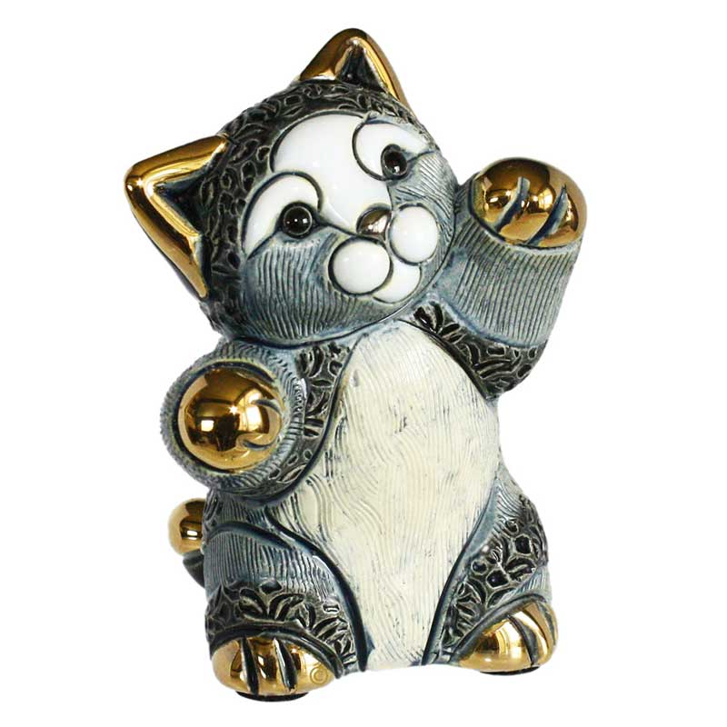 de rosa F393A striped kitten figurine front view