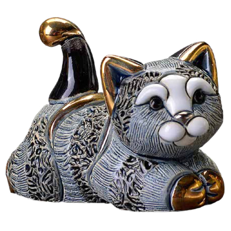de rosa F393B striped kitten resting figurine