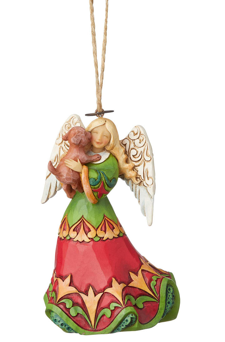 jim shore angel with puppy christmas ornament