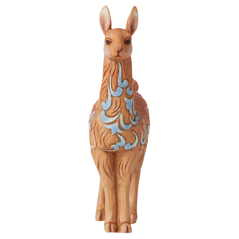 jim shore mini llama figurine front view