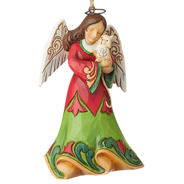 jim shore angel with kitten ornament
