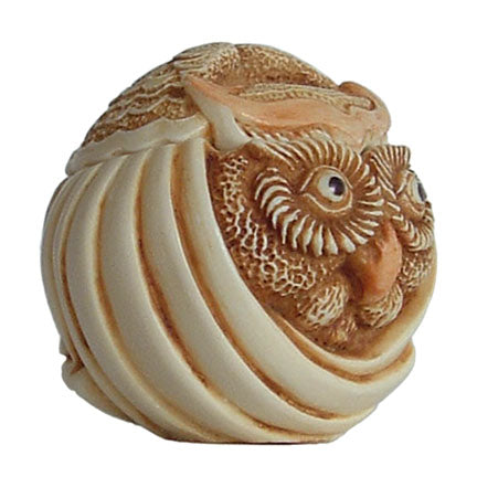 mostel owl roly poly right side view
