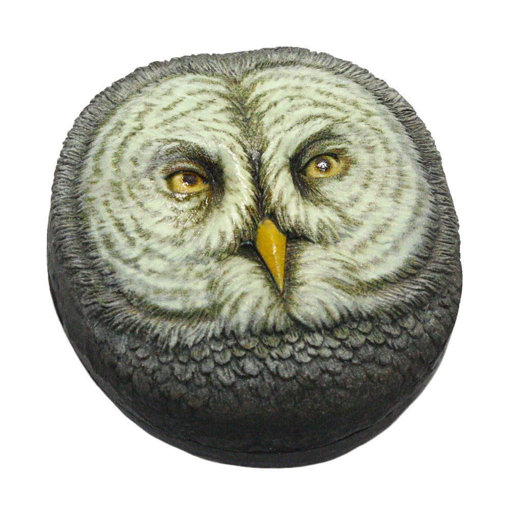dept 56 nature's canvas bob olszewski owl trinket box