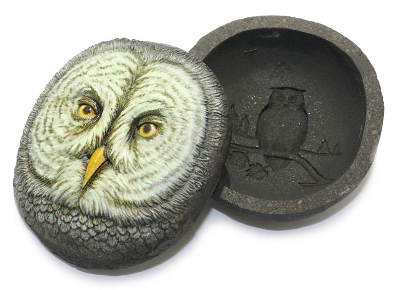 dept 56 bob olszewski owl trinket box interior detail