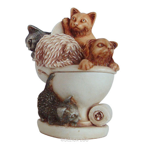 harmony kingdom cats and toilet treasure jest