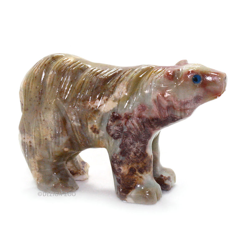 carved stone andean bear