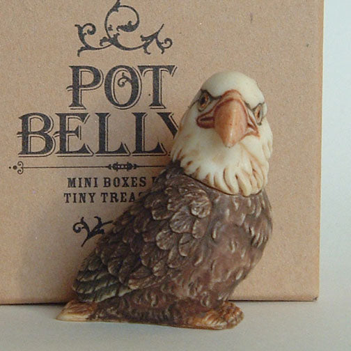 baldwin bald eagle pot belly with box