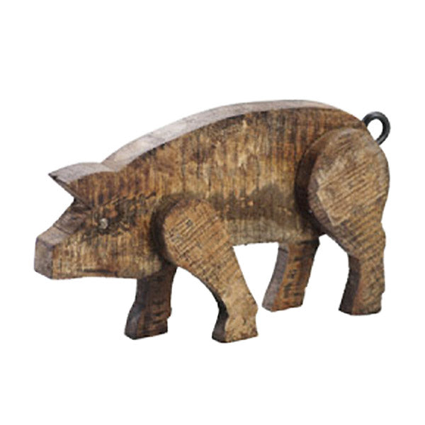 reclaimed barn wood pig
