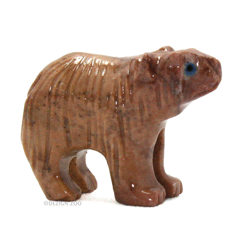 mini soapstone andean bear figurine