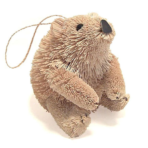 bottle brush polar bear ornament