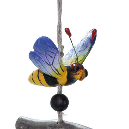 bumblebee bell wind chime close up