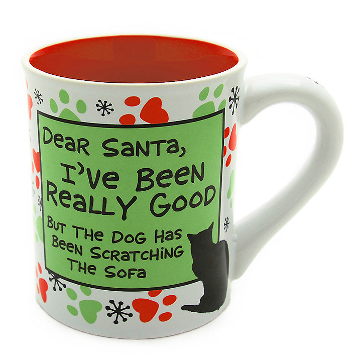 our name is mud christmas cat coffee mug