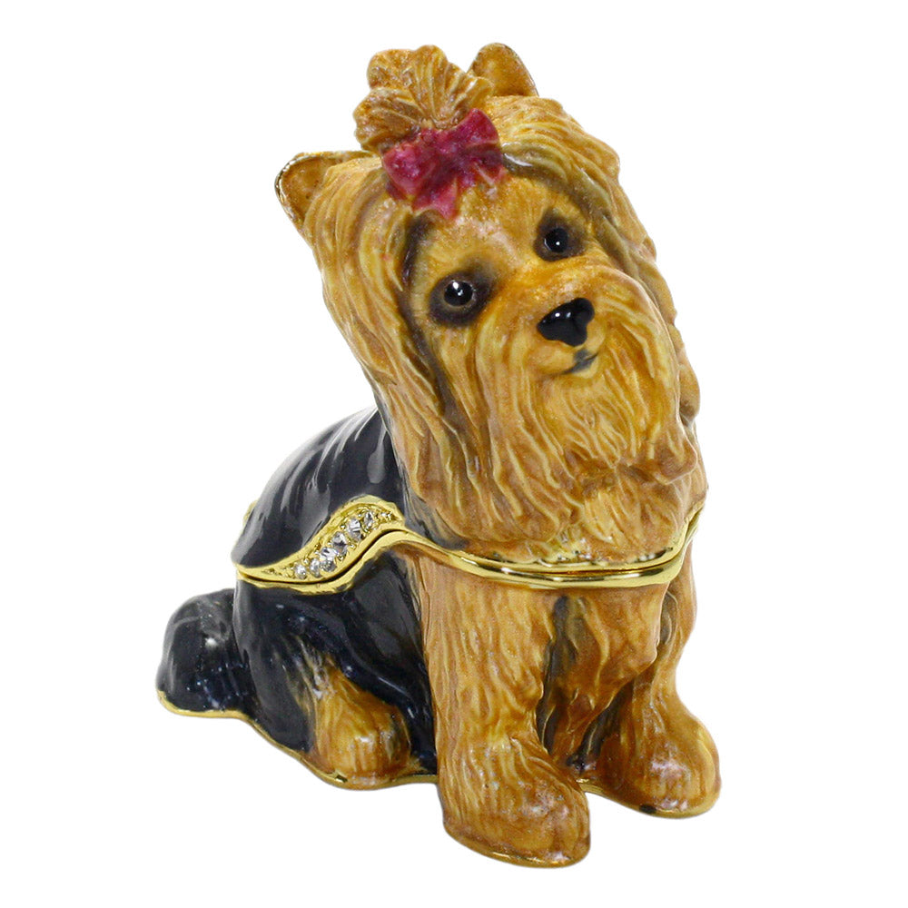 bejeweled yorkshire terrier box