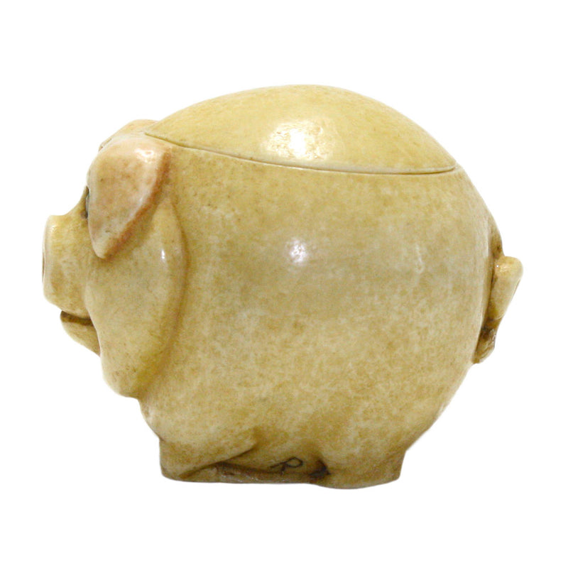 biggie pig pot belly side view