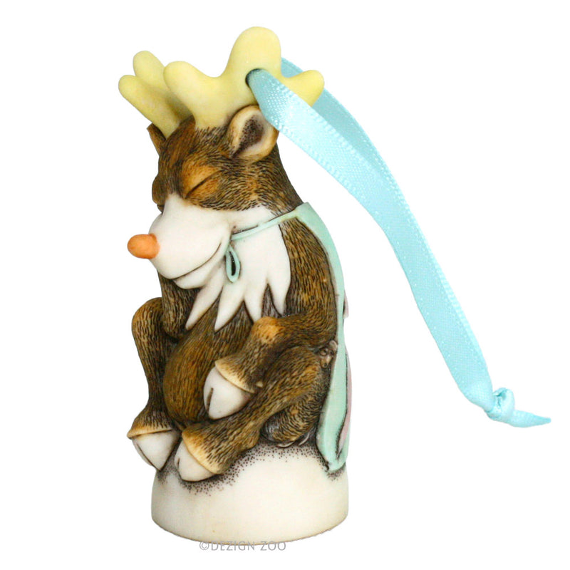 harmony kingdom blitzen reindeer ornament left side view