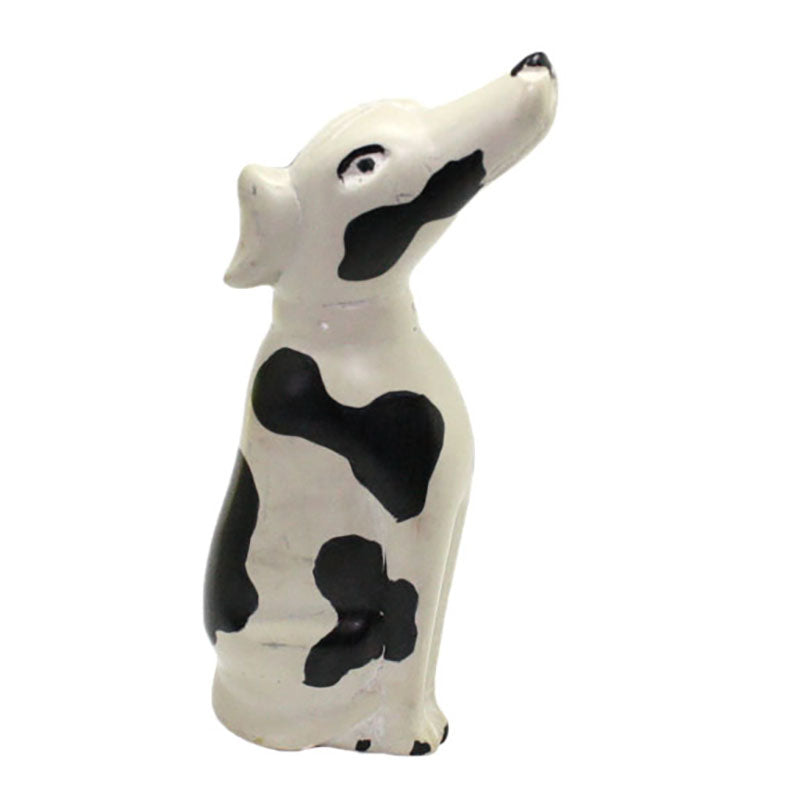 carved soapstone spotted dog figurine