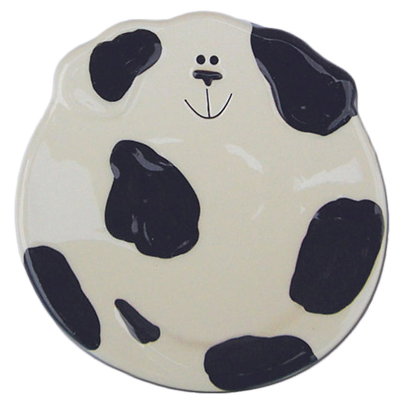 ceramic black spotted dog spoon rest dish