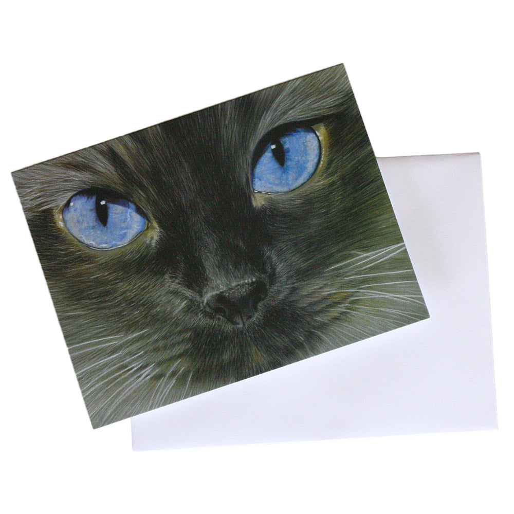 siamese cat illustrated note cards