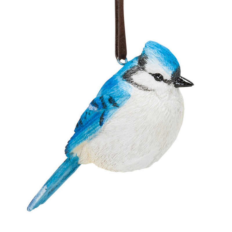 classic blue jay bird ornament