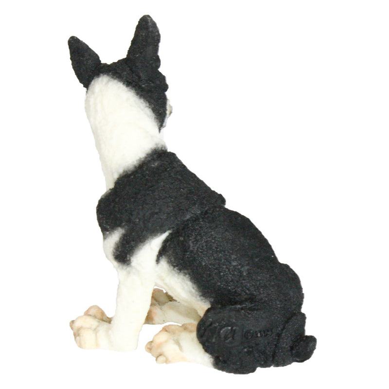a breed apart boston terrier figurine back view