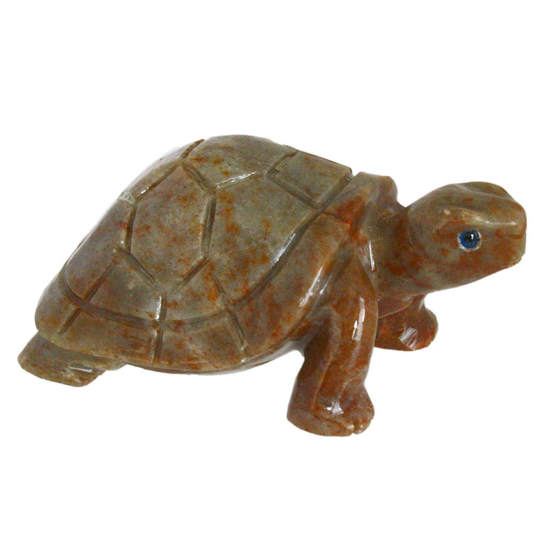 carved stone turtle sculpture figurine