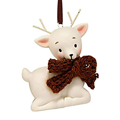 department 56 knit wits deer with brown bow ornament