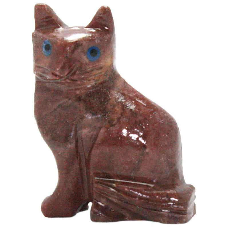 carved soapstone cat sculpture