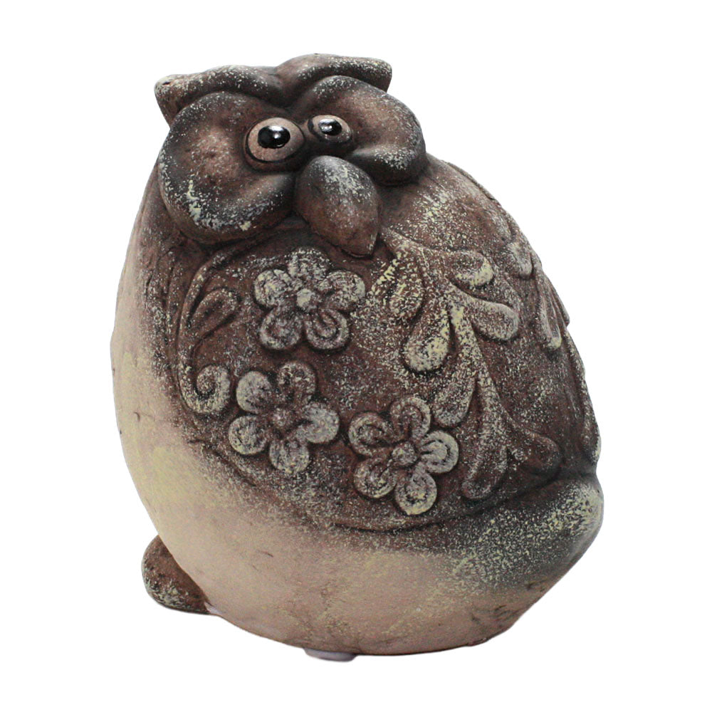 ceramic brown owl figurine