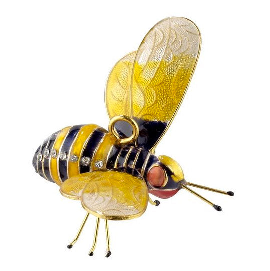 bejeweled cloisonne bumble bee ornament