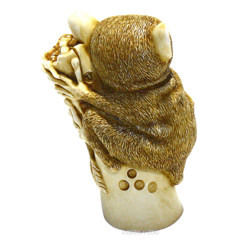 harmony kingdom bush baby netsuke back view