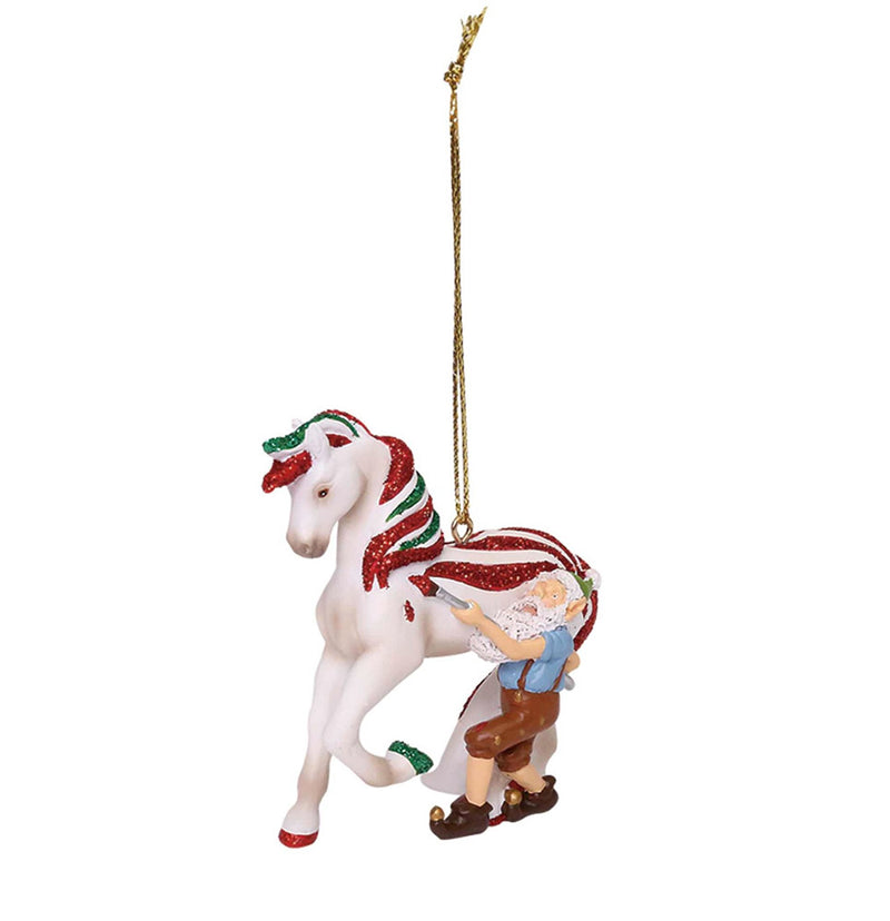 trail of painted ponies candy coated treat hanging christmas ornament