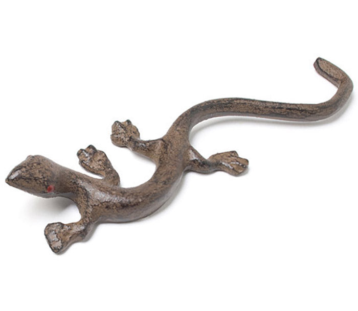 small cast iron lizard figurine