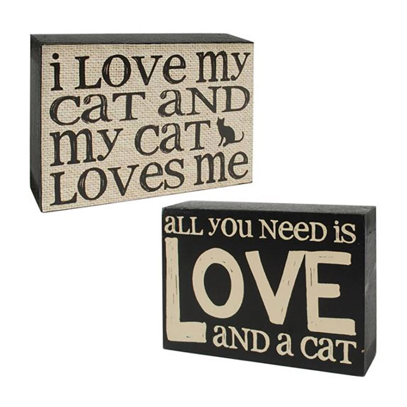 blossom bucket cat love wall box signs