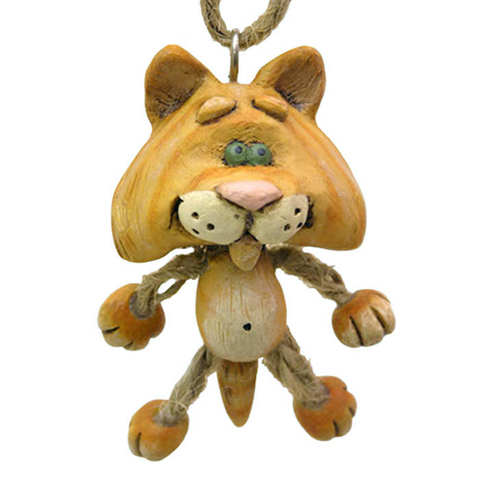 bert anderson orange cat ornament