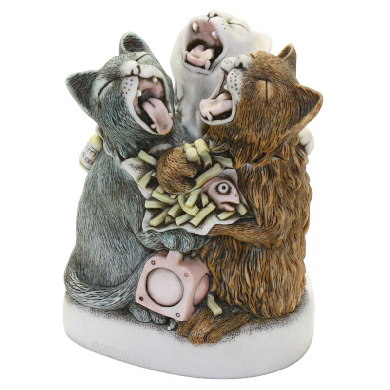 harnony kingdom caterwauling capers cat figurine box