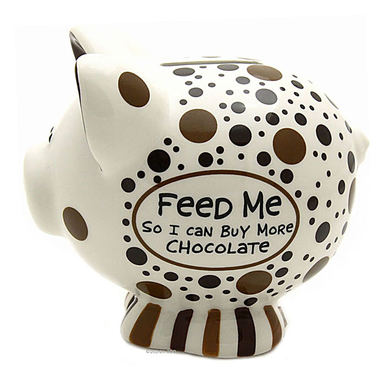 ceramic chocolate lovers piggy bank