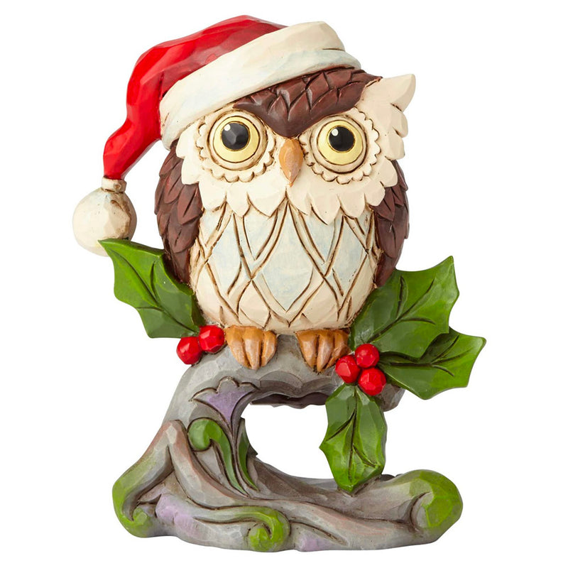 jim shore mini christmas owl on branch figurine