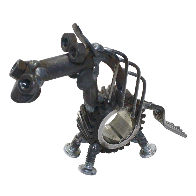recycled metal sun gear horse sculpture figurine