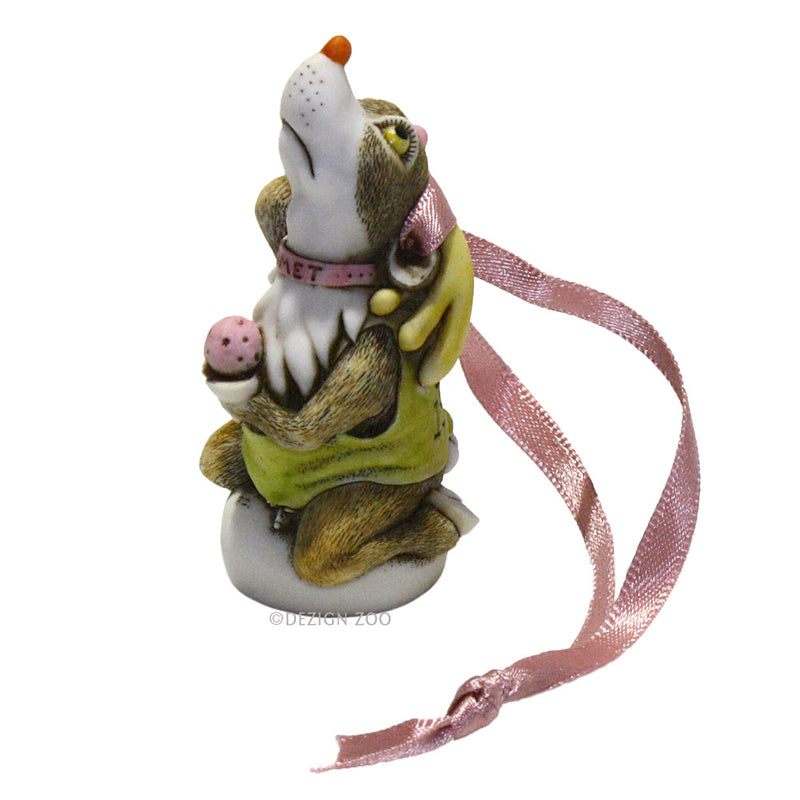 harmony kingdom comet reindeer ornament left side view