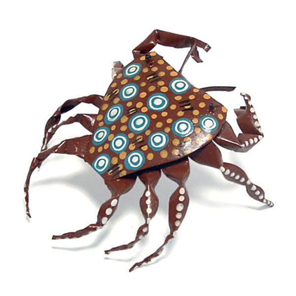 recycled tin can crab figurine