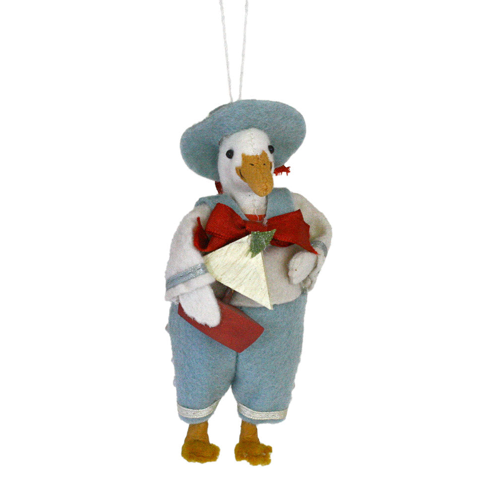 dagwood duck with sail boat felt ornament